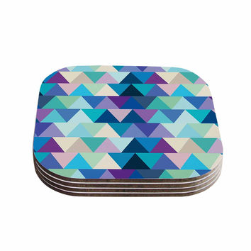 "Draper ""Crystal"" Purple Geometric Coasters (Set of 4)"
