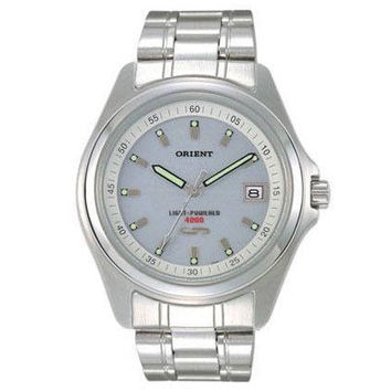 Orient PVD09003W Men's Grey Dial Solar Cell Energy Stainless Steel Watch