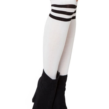Piper Athletic Socks - White