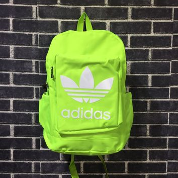 Adidas Fluorescent Green Couple Shoulder Bag Casual Bag Computer Bag For Sale