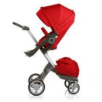 Stokke Xplory V4 Stroller with Bassinet and Free Nuna Car Seat Travel System - Red