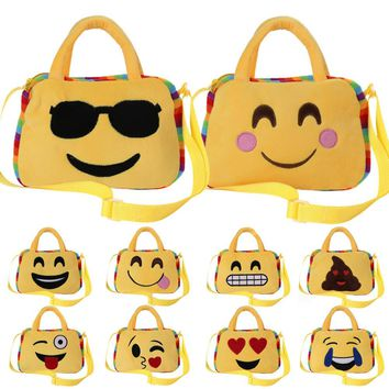 Cute Emoji Emoticon Shoulder School Child Bag Backpack Satchel Rucksack Handbag