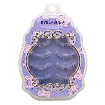 Thick Long Sexy Hot Deal Hot Sale Handcrafts Transparent Stalk Natural False Eyelashes [6532486471]