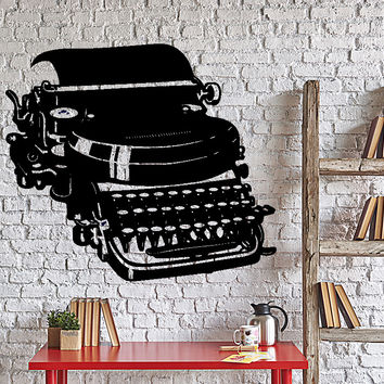 Vinyl Decal Typewriter Writer Journalist Vintage Decor Wall Stickers Unique Gift (005ig)