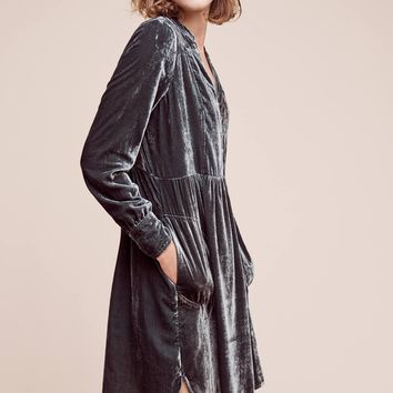 Velvet Shirtdress