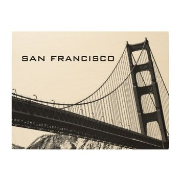 14 X 11 BLACK & WHITE GOLDEN GATE BRIDGE WALL ART