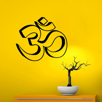 Wall Decals Vinyl Sticker Decal  Interior Home Decor  Art Mural  Yoga Om Symbol  Sign Bedroom Dorm Studio MM76