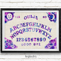 Ouija Board, Watercolor Print, Home Wall Art, Home Decor, Not Framed, Buy 2 Get 1 Free