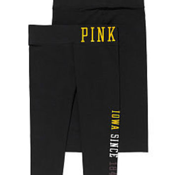 University of Iowa Yoga Crop Legging - PINK - Victoria's Secret