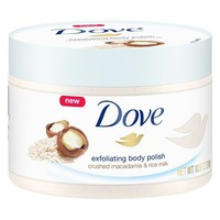 Dove Body Polish Crushed Macadamia and Rice Milk - 10.5oz