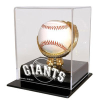 San Francisco Giants MLB Single Baseball Gold Glove Display