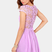 Look the Part-y Lavender Lace Dress