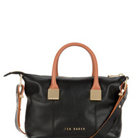 Small leather tote bag - Black | Bags | Ted Baker