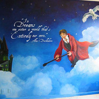 Harry Potter Quote In Dreams we enter a world that is entirely our own dumbledore wall vinyl decal