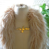Soar// Brass Bird Bib Necklace - Collar Necklace - Boho Chic _Sale