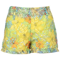 ROMWE | Dual-tone Double-layered Floral Shorts, The Latest Street Fashion
