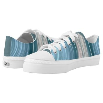 Aqua Teal Driving Dreams Women's Low Top Shoes