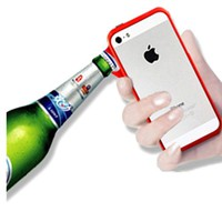 Cool Bottle Opener Metal Case For iPhone 5/5S (Blue)