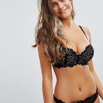 589fe4af8e03d ASOS Fuller Bust Amelia paisley lace padded underwire bra at aso