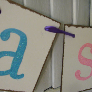 Happy Easter Banner Easter Bunting Garland with Glitter Pastel Letters Fabulous Photo Prop Can Get Without Glitter