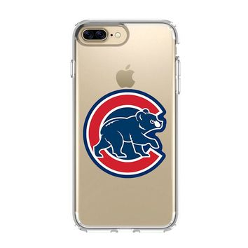 CHICAGO CUBS BASEBALL ICON iPhone 4/4S 5/5S/SE 5C 6/6S 7 8 Plus X Clear Case