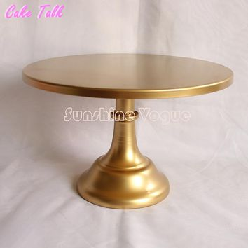 Metal cake stand 10/12 inch gold colorcolor Grand design party event supplier