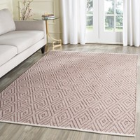 Safavieh Hand-Woven Montauk Beige/ Ivory Cotton Rug (5' x 7') | Overstock.com Shopping - The Best Deals on 5x8 - 6x9 Rugs