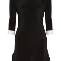 Rochas | Peter Pan collar silk crepe de chine dress | NET-A-PORTER.COM