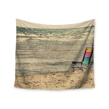 "Angie Turner ""Beach Chair"" Sandy Beach Wall Tapestry"