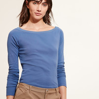 STRETCH COTTON LONG-SLEEVE TEE