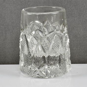 Toothpick Match Holder New HAMPSHIRE or Bent Buckle  by US Glass Company 1903 Victorian  EAPG The States Patterns No 15084