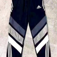 Free shipping-ADIDAS Tide brand thin section three-bar sports pants