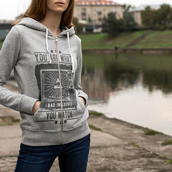 Adult Unisex French Terry Zip Hoodie, Customized Printed Full Zip Hoodie With Front Pocket, Personalized Printed Hoodie Sweatshirt