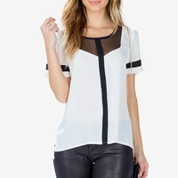 Sharp Contrast Tee