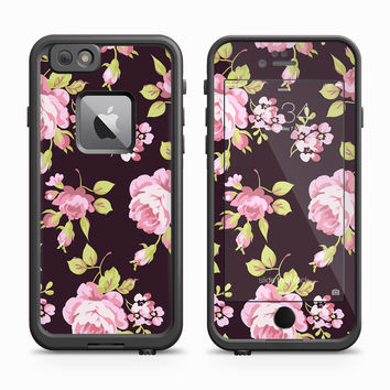 Vintage Victorian Pink Flower Skin for the Apple iPhone LifeProof Fre Case