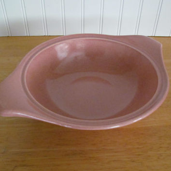 American Modern Coral Serving Bowl Russel Wright Steubenville