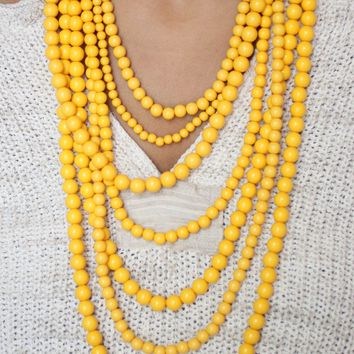 Yellow Stranded Necklace