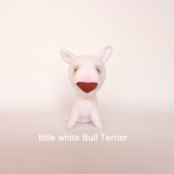 Bull Terrier-miniature soft toy dog -dollhouse miniature toy -bull Terrier toy for children-plush dog