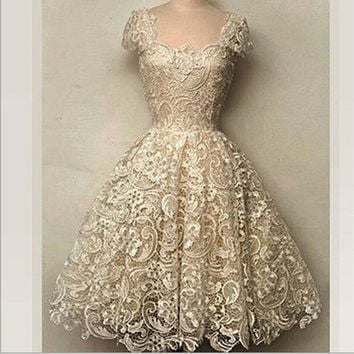 Fashion flowers sexy lace dress elegant evening dress Slim dress = 1931523652