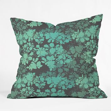 Gabi Audrey Teal Throw Pillow