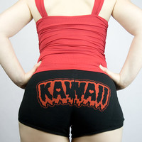 Kawaii scary goth kowai shorts - LIMITED