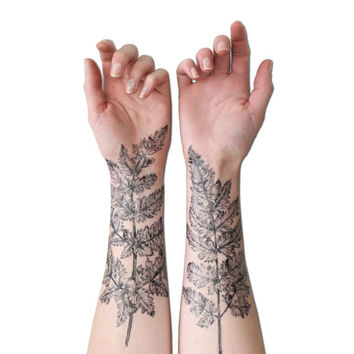 NATURE GIRL From the Forest Fern & Crystal Temporary Tattoo Kit