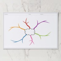 Mind Map Template Starter Paper Pad