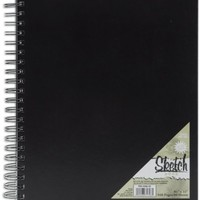 Pro Art 8 1/2-Inch by 11-Inch Spiral Bound Sketch Book, 80-Sheet
