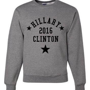 Hillary Clinton 2016, President, First Woman Feminist  Smart Democrat Election Campaign Support Sweatshirt Shirt Ladies & Mens (Unisex)Size