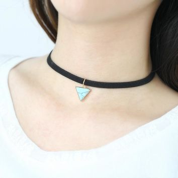 New Arrival Shiny Gift Jewelry Stylish Turquoise Chain Innovative Necklace [10794239047]