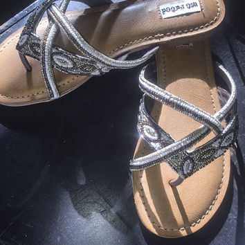 Not Rated Tabago Trippin Sandals Silver