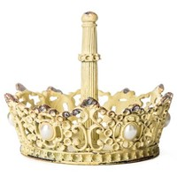 Yellow Pewter Ring Holder with Pearls | Shop Hobby Lobby