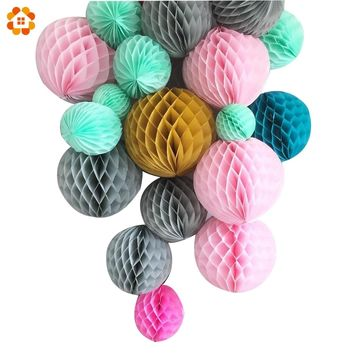 "1PC 4""6""8""10"" Colorful DIY Tissue Paper Honeycomb Ball Tissue Pompoms Wedding/ Birthday Party Decoration Baby Shower Supplies"