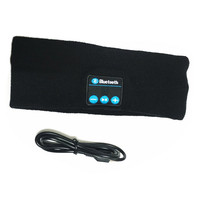Bluetooth Stereo Music Sports Headband   black